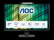 Монитор жидкокристаллический AOC Монитор LCD 27'' [16:9] 1920х1080(FHD) IPS, nonGLARE, 250cd/m2, H178°/V178°, 1000:1, 20M:1, 16.7M, 4ms, VGA, HDMI, DP, Tilt, Speakers, Audio out, 3Y, Black