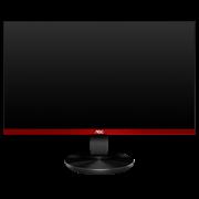 Монитор жидкокристаллический AOC Монитор LCD 24.5'' [16:9] 1920х1080(FHD) TN, nonGLARE, 400cd/m2, H170°/V160°, 1000:1, 50M:1, 16.7M, 1ms, VGA, 2xHDMI, DP, Pivot, Tilt, Swivel, 3Y, Black-Red