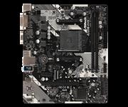 Плата материнская Asrock Asrock A320M-DVS R4.0, AM4, AMD A320, mATX, BOX