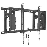 """Кронштейн CHIEF Крепление настенное с рейками ConnexSys для видеосистемы (на 1 экран), 42-80"""",от +4° до -2,5°, до 68 кг, LandScape, 200 x 100 - 700 x 400 mm, Black"""