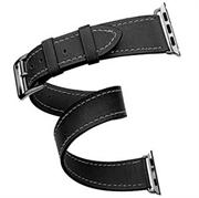Ремешок Cozistyle Cozistyle Double tour leather watch band - Black