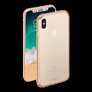 Чехол Deppa Gel Plus Case матовый для Apple iPhone X, золотой, Deppa