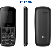 Телефон сотовый F+ F196 Black, 1.77'' 128x160, 32MB RAM, 32MB, up to 16GB flash, 2 Sim, BT v2.1, Micro-USB, 600mAh, 62g, 113,5 ммx46,8 ммx12,2 мм