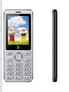 Телефон сотовый F+ S240 Dark Grey, 2.4'' 240х320, 32MB RAM, 32MB, up to 16GB flash, 0.08Mpix, 2 Sim, BT v2.1, Micro-USB, 1000mAh, 104g, 125 ммx53 ммx9,2 мм