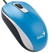 Мышь Genius DX-110, USB (голубая, оптическая 1000dpi)