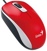 Мышь Genius DX-110, USB (красная, оптическая 1000dpi)