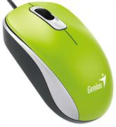 Мышь Genius DX-110, USB (зелёная, оптическая 1000dpi)