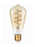Лампа светодиодная Hiper HIPER LED FILAMENT FLEXIBLE ST64 5W 300Lm E27 64140 2400K AMBER