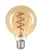 Лампа светодиодная Hiper HIPER LED FILAMENT FLEXIBLE G80 6W 420Lm E27 80125 2200K AMBER