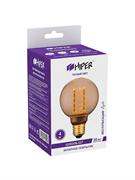 Лампа светодиодная Hiper HIPER LED VEIN G80 4W 300Lm E27 1800K Amber