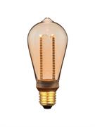 Лампа светодиодная Hiper HIPER LED VEIN ST64 4W 300Lm E27 1800K Amber
