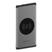 Аккумулятор HIPER Внешний аккумулятор HIPER NANO V Li-Pol 5000 mAh QI 5W 2.4A 1xUSB, cеребристый