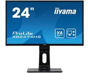 Монитор жидкокристаллический Iiyama Монитор LCD 23.6'' [16:9] 1920х1080(FHD) VA, nonGLARE, 250cd/m2, H178°/V178°, 3000:1, 12M:1, 16.7M, 4ms, VGA, HDMI, DP, Height adj, Pivot, Tilt, Swivel, Speakers, 3Y, Black