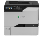 Принтер лазерный Lexmark CS725de белый, лазерный, A4, цветной, ч.б. 47 стр/мин, цвет 47 стр/мин, печать 1200x1200, лоток 550+100 листов, USB, Wi-Fi, NFC, двусторонний автоподатчик, сеть