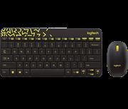 Комплект Logitech MK240 Black (чёрный с жёлтым рисунком)