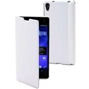 Чехол Muvit Чехол Muvit for Xperia Easy Folio для Sony Xperia Z2 кожа, белый