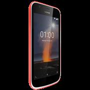 Смартфон Nokia NOKIA 1 DS TA-1047 WARM RED, 4.5'' 854x480, 1.1GHz, 4 Core, 1GB RAM, 8GB, up to 128GB flash, 5Mpix/2Mpix, 2 Sim, 2G, 3G, LTE, BT, Wi-Fi, GPS, Micro-USB, 2150mAh, Android 8, 131g, 133.6 х 67.78 х 9.5