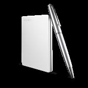 """Накопитель на жестком магнитном диске TOSHIBA Внешний жесткий диск TOSHIBA HDTD310ES3DA Canvio Slim 1ТБ 2.5"""" USB 3.0 серебро"""
