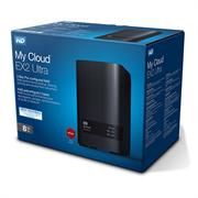 "Накопитель на жестком магнитном диске WD Сетевой RAID накопитель WD My Cloud EX2 Ultra WDBSHB0080JCH-EEUE 8ТБ 3,5"" LAN NAS"